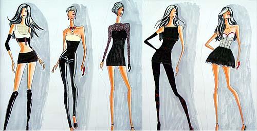 时尚的服装设计图多视角分享展示