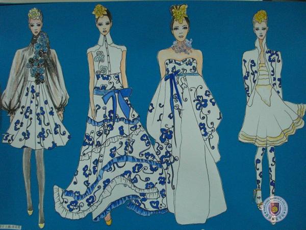 时装画效果图 香港服装学院师生作品欣赏