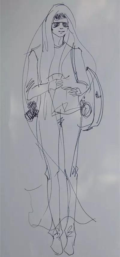 春季女装手绘设计图